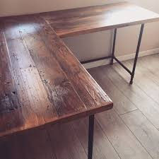 100 Diy Pipe Desk Plans Pipe Table Ideas And Inspiration by L Shaped Desk Reclaimed Wood Desk Pipe Legs Industrial