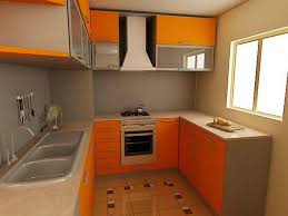 Kitchen Cabinet Pull Down Shelves Design Open Shelving Gas Cooktop Range Hood U Shaped Orange Wood
