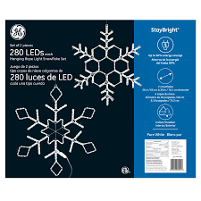 outdoor hanging snowflake lights 82024 ge staybright led hanging light snowflake set 2 pack