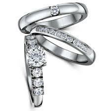 bridal sets uk titanium cz bridal set engagement eternity and single