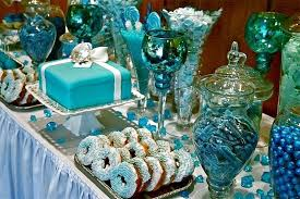 Pictures Of Buffet Tables by 33 Blue Theme Party Candy Table Ideas