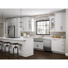 24 inch wide kitchen sink base cabinet newport assembled 24x34 5x24 in plywood shaker sink base kitchen cabinet soft doors in painted pacific white