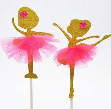 ballerina cake toppers ballerina dancer cup cake toppers birthday decoration party