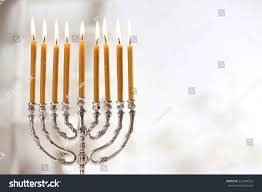 how to light chanukah candles beautiful menorah burning candles on light stock photo royalty free