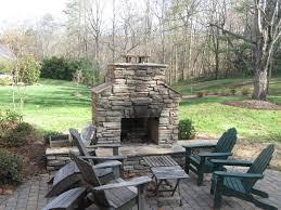 Patio Fireplace Kit by Stone Patio With Stone Outdoor Fireplace Outdoor Stone Fireplace