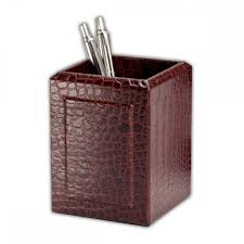 ray u0027s brown crocodile embossed leather desk set showtime store