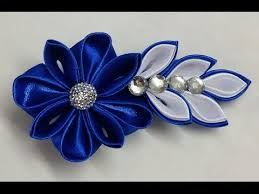 diy kanzashi flower hairclip how to make kanzashi flower