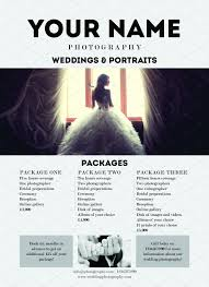 wedding photography packages wedding photography promotion flyer flyer templates creative