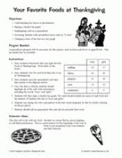 your favorite foods at thanksgiving printable computer activity