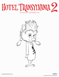 hotel transylvania 2 coloring pages