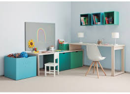 fabriquer bureau enfant premier petit bureau enfant avec caisses de rangement signé asoral