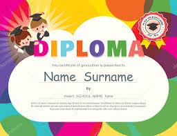 diplomas de primaria descargar diplomas de primaria plantilla de diseño de certificado de diploma de niños de preescolar
