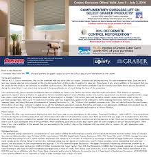 Costco Graber Blinds Costco Warehouse Coupon Offers June 9 U2013 July 3 2016