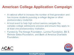 gocollegeny org apply college application week overview september