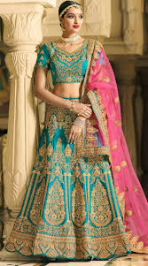lengha choli for engagement firozi satin silk engagement lehenga choli ek1308443