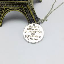 grandmother and granddaughter necklaces between grandmother granddaughter family necklace