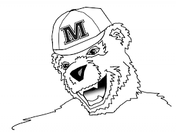 coloring pages bananas t bear university of maine