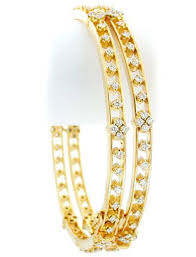 yellow gold bracelet with diamonds images Indian bangles 4 80ct round shape diamond yellow gold jpg