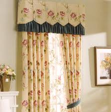 curtains country yellow floral jacquard no valance