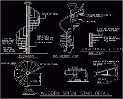 spiral staircase cad drawing a more decor