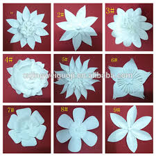 Paper Flower White Giant Artificial Paper Flowers For Decoration Buy