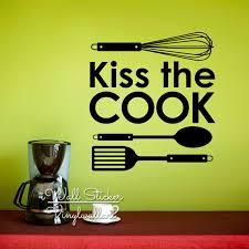 baise cuisine baiser le cuisinier cuisine wall sticker famille cours mur