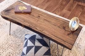 mid century modern live edge coffee table woodwaves