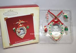 hallmark 2005 baby u0027s first christmas photo holder ornament qxg4622