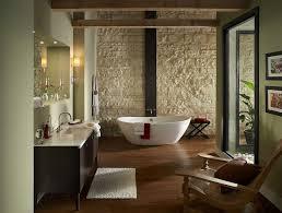 Mirror Wall In Bathroom Travertine Bathroom Designs Corner Bathtub In White Color