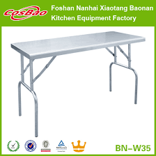 stainless steel folding table bn w35 kitchen heavy duty metal work bench stainless steel work