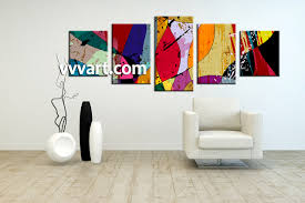 colorful home decor 5 piece canvas colorful home decor abstract multi panel art