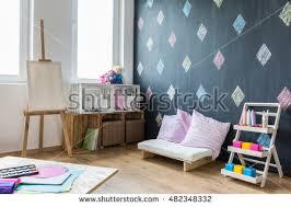 Interior Painting Tools Mock Wall Child Room Interior Wall Stock Illustration 554514883