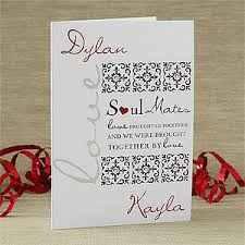 romantic personalized greeting cards soul mates
