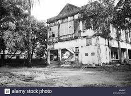 a neglected french colonial house in ziguinchor senegal west
