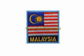Flag Badges Embroidered Scout Malaysia Badge Embroidery U2013 Beeloon Com U2013 Malaysia No 1