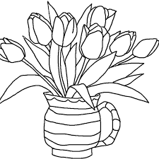 flower and butterflies coloring pages for kids coloring pages