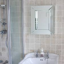 Glass Mirrors For Bathrooms All Glass Bathroom Mirror By Decorative Mirrors