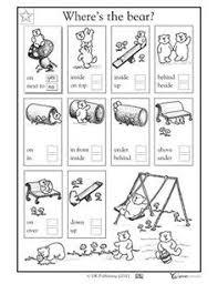 1st grade kindergarten math reading worksheets where u0027s the bear