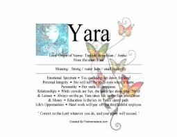 yara name means small butterfly nydob com