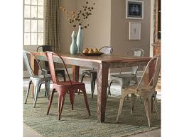 coaster keller rustic rectangular dining table with scrubbed paint