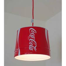 coca cola pendant lights small coke bucket pendant lights plug in or install red and