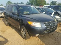 hyundai santa fe 2007 black 5nmsg13dx7h049368 2007 black hyundai santa fe g on sale in nc