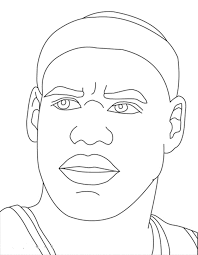 lebron james coloring pages bestofcoloring com