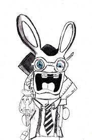 33 dessins de coloriage lapin crétin à imprimer