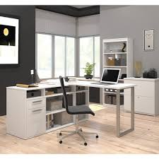 L Shaped Desk With Bookcase Bestar Solay L Shaped Desk With Lateral File And Bookcase Free