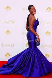 2014 Red Carpet Keke Palmer Royal Blue Mermaid Red Carpet Prom Gown Emmy Awards