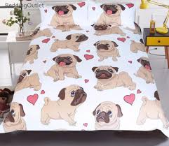 Free Bed Sets Buy Pug Bedding Set Free Shipping 2 Matching Covers
