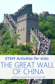 stem activities for kids great wall of china challenge