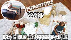 Affordable Coffee Tables by Diy Marble Coffee Table Affordable U0026 Easy Youtube