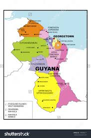 East America Map by Guyana Location On The South America Map Map Of South America